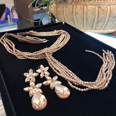 New collection of costume jewelry in warm autumn colors